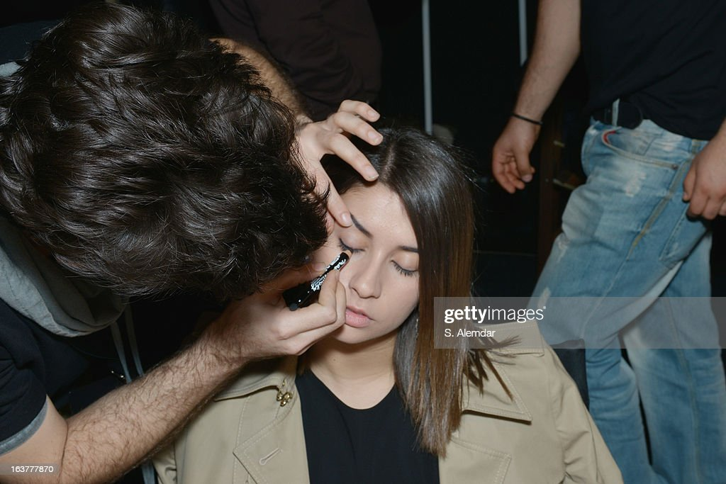 Buse Terim backstage before the Selma State show during Mercedes-Benz Fashion Week Istanbul Fall/Winter 2013/14 at Antrepo 3 on March 15, 2013 in Istanbul, Turkey.