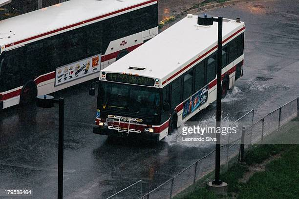 CONTENT] Buses are the only service available after a massive storm hit Toronto taking down all its power and means of electric subway transport Here...