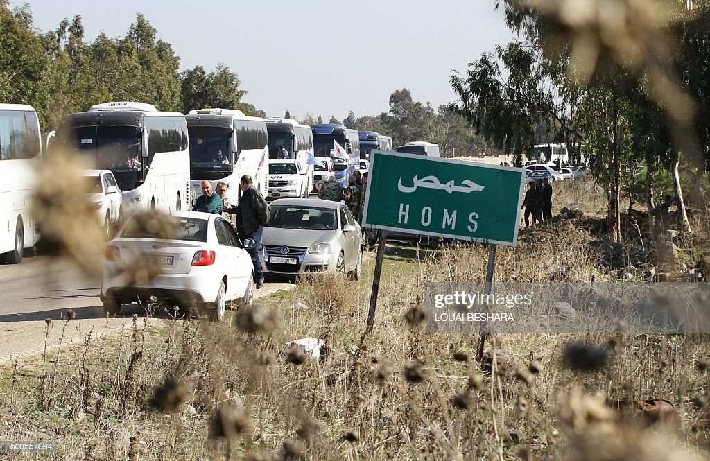 Buses evacuate Syrian civilians as hundreds of civilians and rebel forces began leaving the last oppositionheld district of Waer in the central city...