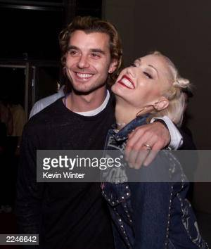 Bush lead singer Gavin Rossdale and No Doubt lead singer Gwen Stefani get close at the 2000 Radio Music Awards at the Aladdin Hotel in Las Vegas...