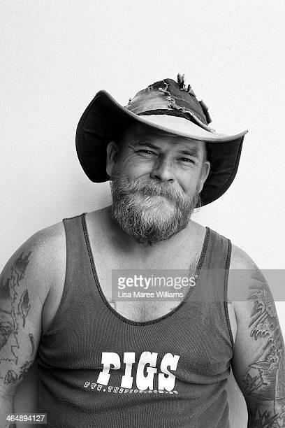 Bush poet Mick Souter poses on Peel Street during The Tamworth Country Music Festival on January 24 2014 in Tamworth Australia The festival in its...