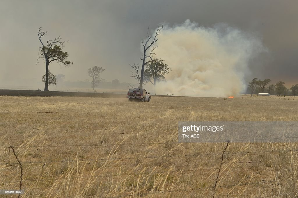 Bushfires burn in the large rural region of Gippsland January 18, 2013 near Dawson, Victoria, Australia. Record heat was making conditions ripe for wildfires throughout Australia. Australia's largest city Sydney today posted its highest recorded temperature ever at 114 degrees Fahrenheit.