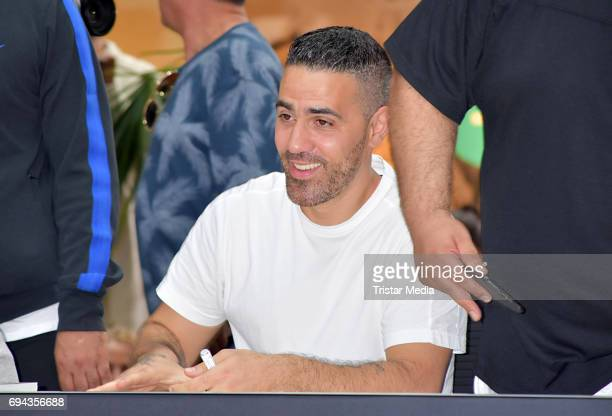 Bushido during his autograph session for the launch of his album 'Black Friday' at Mall of Berlin on June 9 2017 in Berlin Germany