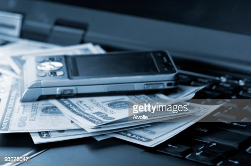 Business accessories and dollars : Stock Photo