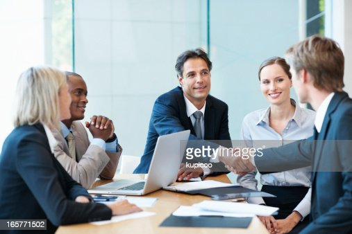 Business Men Shaking Hands In Agreement Stock Photo | Getty Images