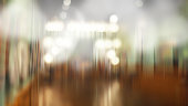 Abstract blurred focus of gallery art exhibition hall with bokeh background
