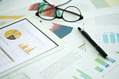 Business and Finance Concept: Business Chart on Desk