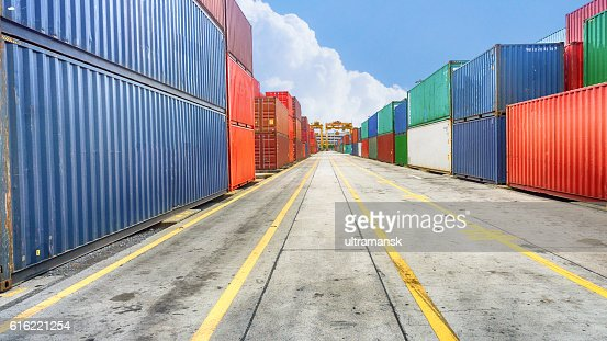 Business and logistics. Cargo transportation and storage. Equipm : Stock-Foto