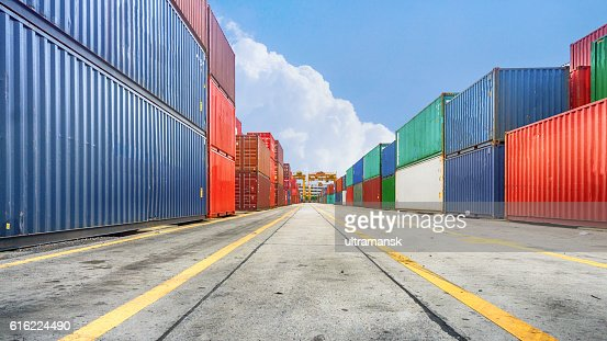 Business and logistics. Cargo transportation and storage : Stock Photo