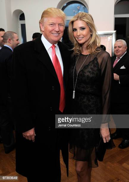 Business and media personality Donald Trump with entrepreneur and socialite Ivanka Trump attend the Ivanka Trump Fine Jewelry Collection Launch...