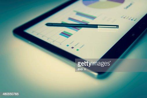 Negocios y tecnología móvil : Foto de stock