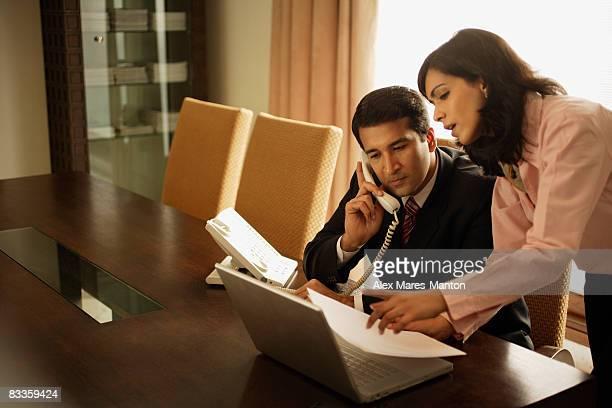 business associates having meeting