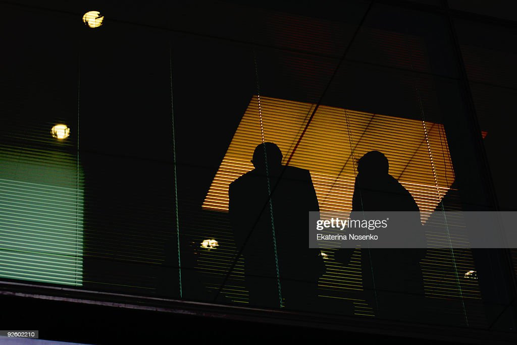 Business at night : Stock Photo