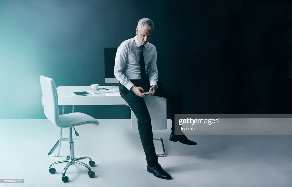 Business at the touch of a button : Stock Photo