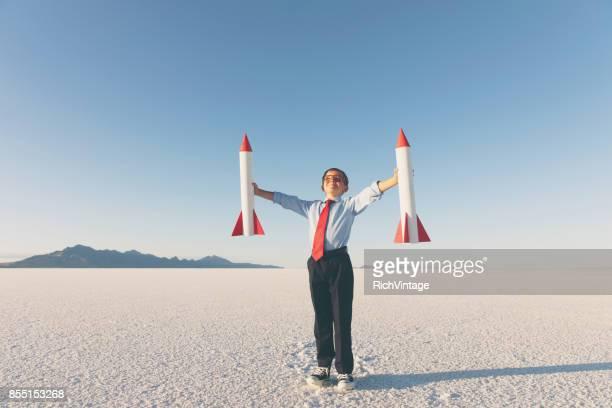 Geschäftskunden junge Holding Raketen