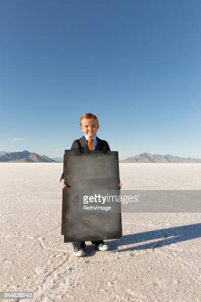 Business Boy with Sandwich Message Board