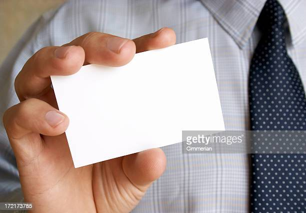 Business card in a hand