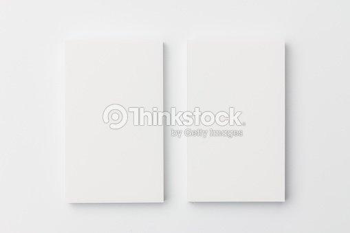 Visitenkarte Auf Weißem Hintergrund Stock Foto Thinkstock