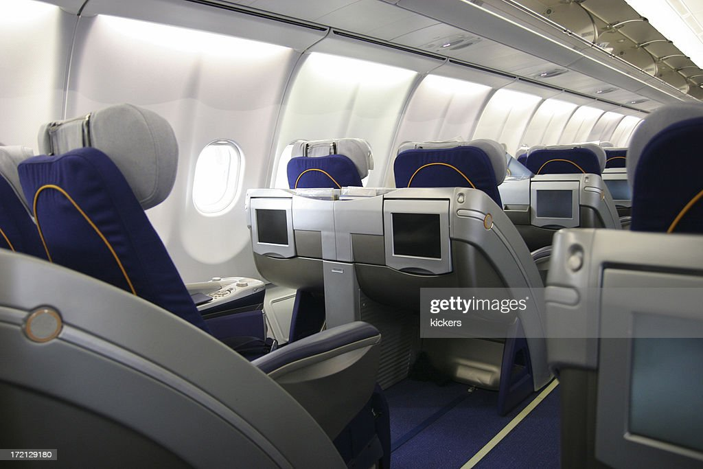 Business class airliner seat with multimedia monitor