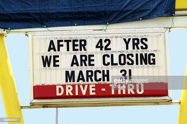Business Closing Sign