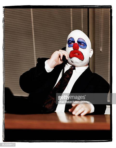 Business Clown on Telephone