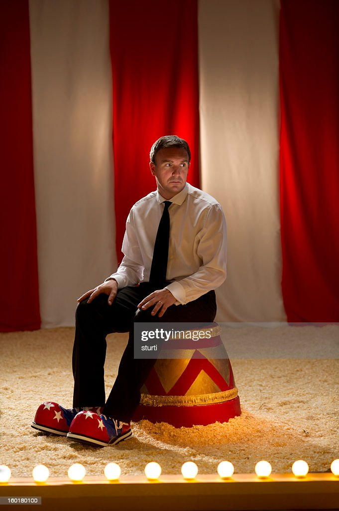 business clown : Stock Photo