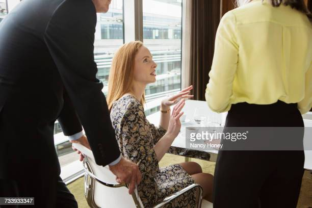 Business colleagues having meeting