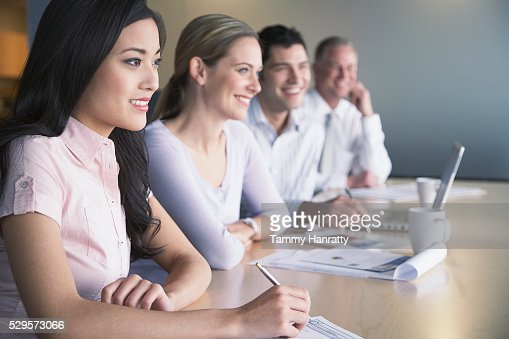 Business colleagues in a meeting : Stock-Foto