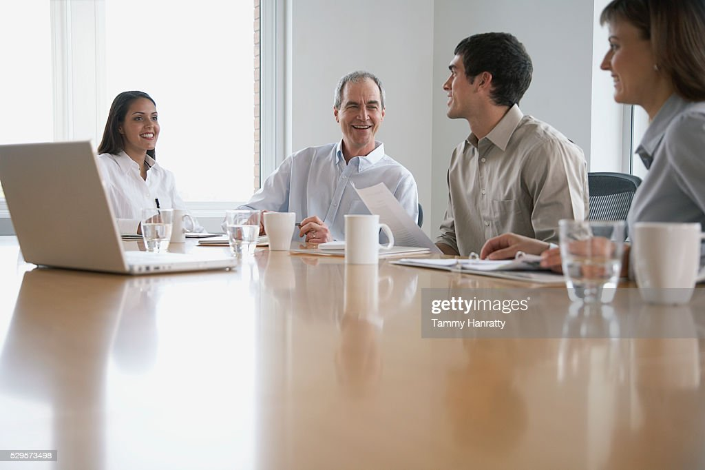 Business colleagues in a meeting : Stock Photo