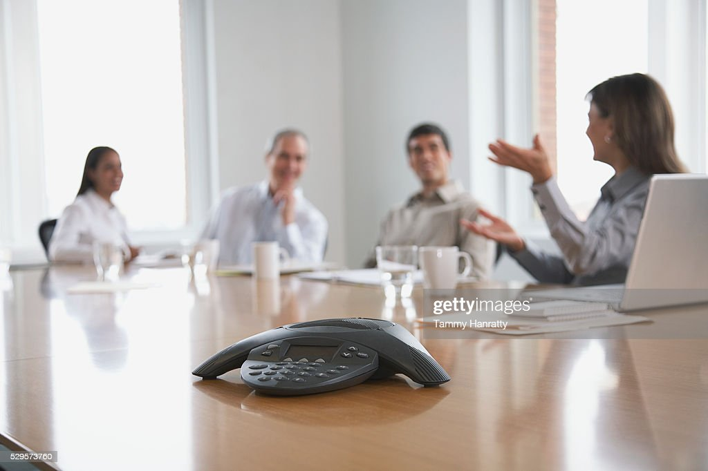 Business colleagues in a meeting : Stockfoto