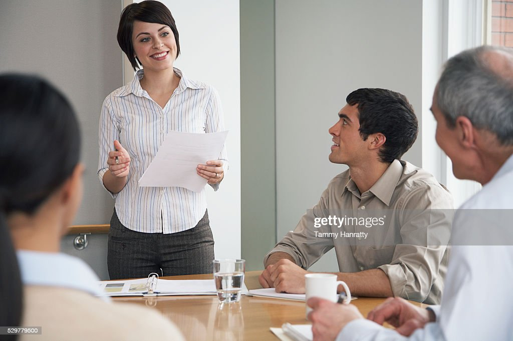 Business colleagues in a meeting : Foto de stock