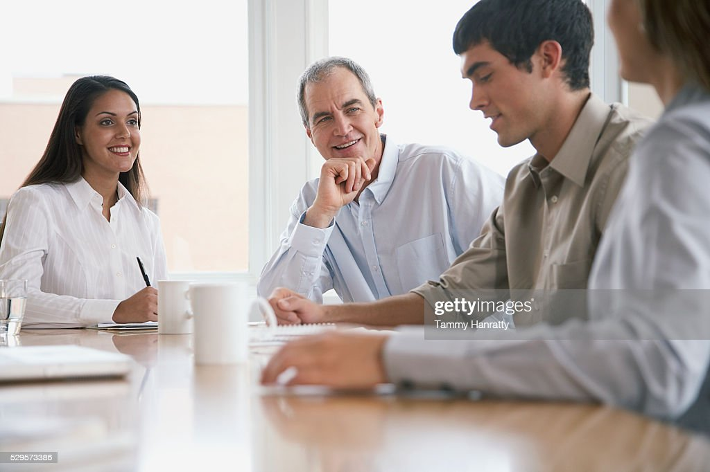 Business colleagues in meeting : ストックフォト