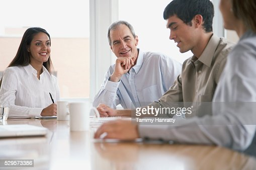 Business colleagues in meeting : Foto de stock