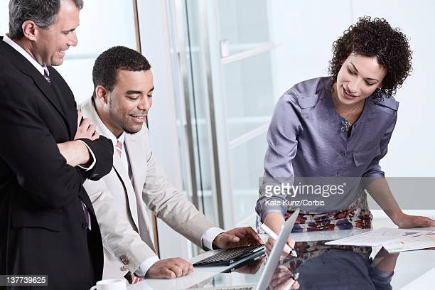 Business colleagues planning in office meeting