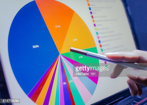 Business concept, Business graph analysis report. Accounting, Stock, Tone color : Stock Photo