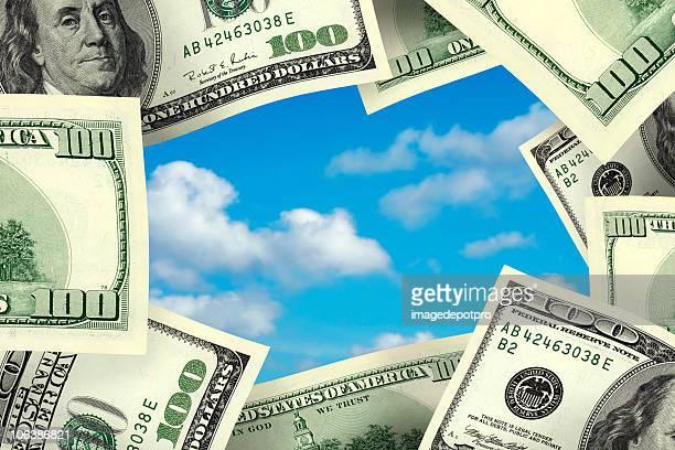 business concept money frame