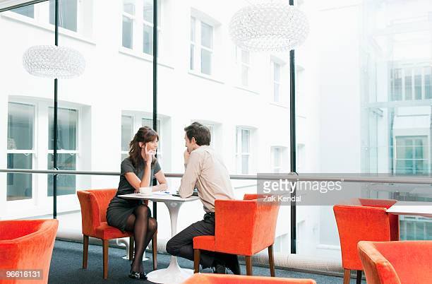 Business couple in a restaurant