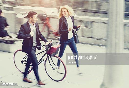 ビジネスのカップル street