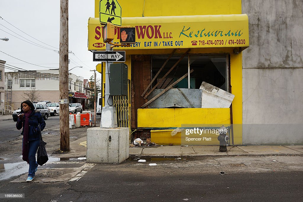 A business damaged by Hurricane Sandy is viewed in the Rockaways on January 15, 2013 in the queens borough of New York City. A $50.7 billion Superstorm Sandy aid package is expected to be voted on today in the House. The package, which has come under criticism by some fiscal conservatives, is being heavily pushed by Northeastern lawmakers. The money would be spent on immediate needs to the region including $5.4 billion for New York and New Jersey transit systems and $5.4 billion for the Federal Emergency Management Agency's disaster relief aid fund.