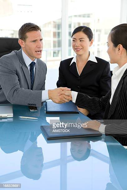 Business Deal with Asian people