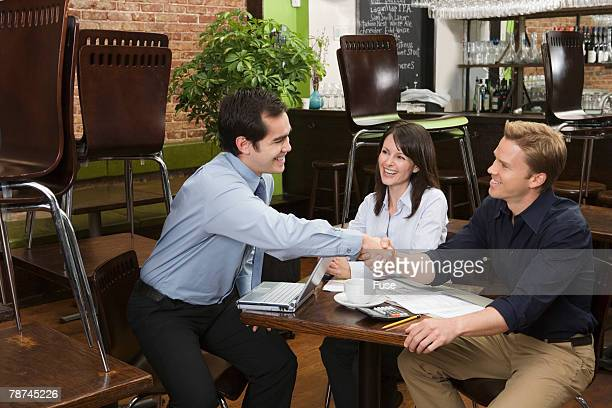 Business Dealings in a Restaurant