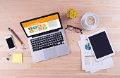 Business desk concept - Learning