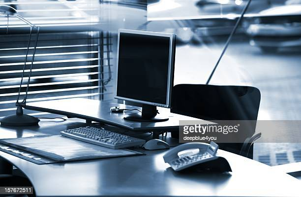 Business desktop pc, black and white