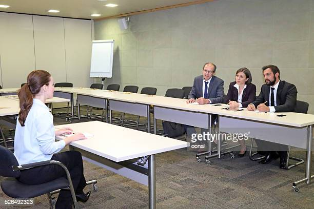 Business discussion on the table
