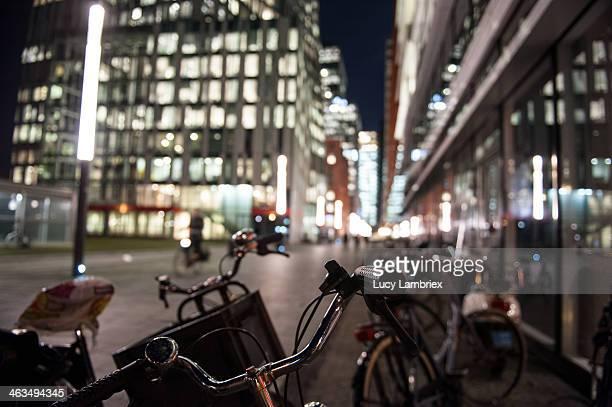 Business district Amsterdam Zuidas, bikes