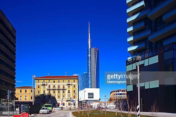 Business district Garibaldi and Unicredit Tower