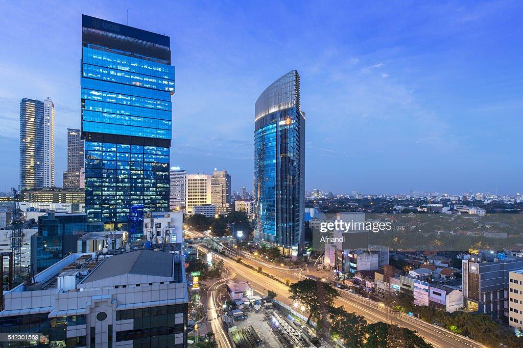 Business district, Jakarta Skyline