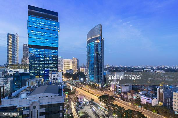 Business district, Jakarta Skyline