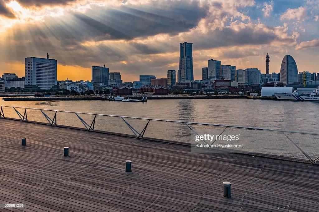 Business district of Yokohama