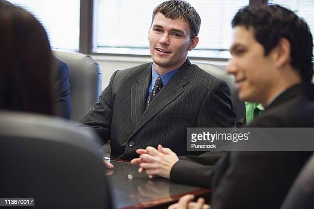 Business executives at a meeting